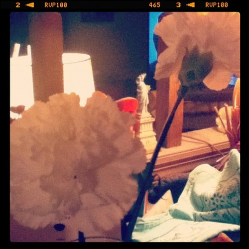 Lovely flowers Mom and I got at the funeral. RIPinstagram)