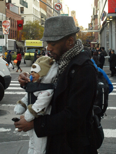 forefrontfashion:  Dad on 14th Street  Go stylish dads. We ain't all about fanny packs and pleats…