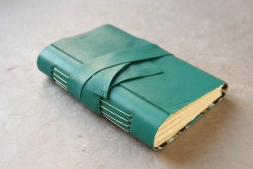 hookedonphonics:  Teal Leather Journal or Sketchbook by KarleighJae on Etsy