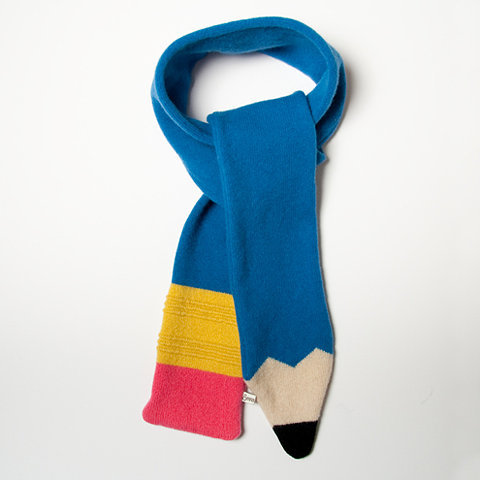 "FFFFOUND! | Folksy :: Buy ""Lambswool Blue Pencil Scarf"""
