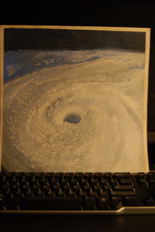 photorigami:  this is a photo of a painting i made of a hurricane