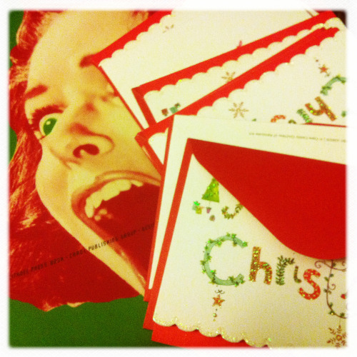 i've got this really bad habit of buying christmas cards but never sending them out. for once, i decided to get a head start on my holiday snail mail by picking up a box of cards from papyrus along with some stamps and these shall be on their way this weekend. score is me: ONE and procrastination: ZERO!