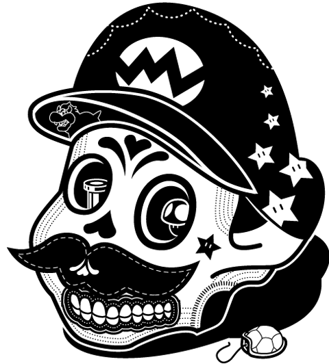 visualgraphic:  Mario Death