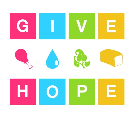 Give Hope 2011 My design for a shirt contest about hunger. Used 4 food staples; meat, water, vegetables and grains.