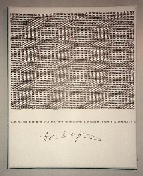 fastasleepclub:  Typewriter poem, by Henri Chopin.