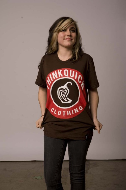 "thinkquickclothing:  ""Chipotle"" T-Shirt printed on American Apparel. Pick one up via our online store at www.thinkquickclothing.com!  EW ITS ME. But everyone should go check out my gramps line (;"