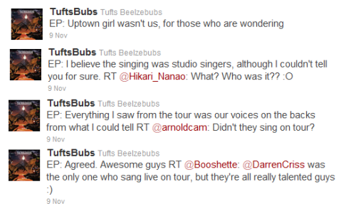 Is it still undetermined who is voicing the Warblers on Glee this season?