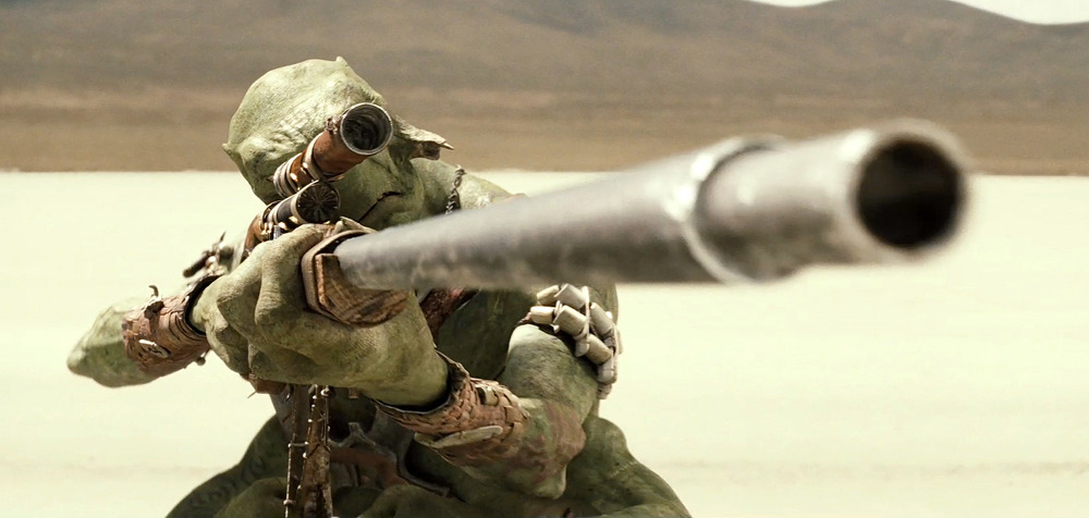 A Thark sniper from Andrew Stanton's John Carter movie, from the latest official trailer.