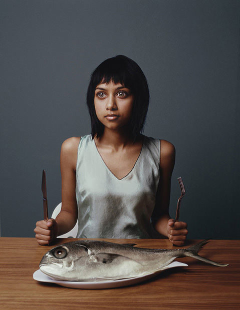 Excellent portrait series of people and the fish the resemble, or fish and the people they resemble?, by Ted Sabarese. (via PetaPixel)