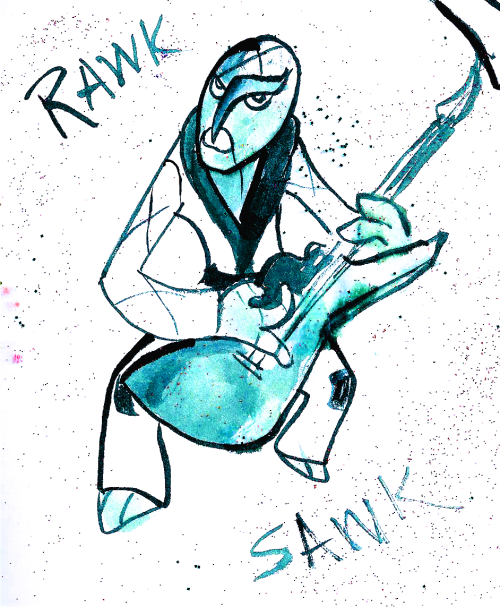RAWK SAWK! what do you mean i'm not taking these seriously enough (Day 2: Fight)