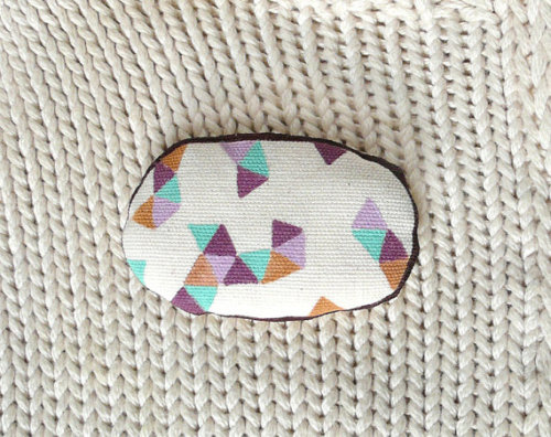 esetsygal:  (via Triangle geometric Brooch Handpainted Cute art by teconlene)