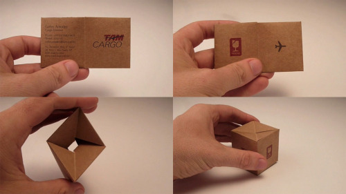 jaymug:  TAM Cargo: Box Business card  WOW this is aaaawesome idea!
