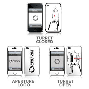 Protect your iPhone from Mantis Men with these Portal iPhone Skins! Just try getting near that iPhone. It's your funeral. Cave Johnson, we're done here.