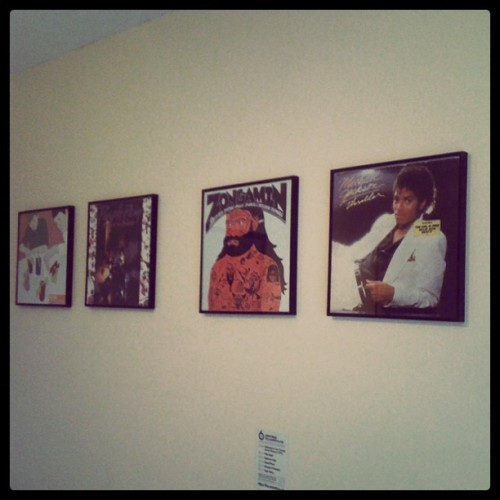 The gods watching over me while I make music (Taken with instagram)