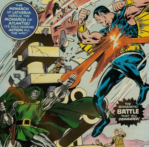 THE MONARCH OF LATVERIA VERSUS THE MONARCH OF ATLANTIS! IT'S SOUL-SEARING ACTION ALL THE WAY!