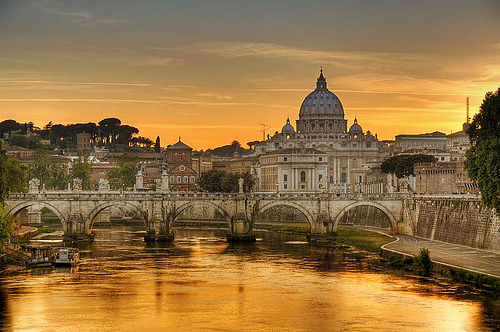 Rome next year! I cross my fingers…  allthingseurope:  Roman sunset (by cuellar)