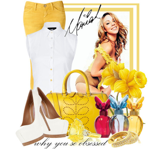 The Diva Mariah Carey by queenrachietemplateaddict featuring a leather handbag