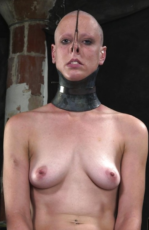 where-they-belong:  Freshly shaved, collar locked in place, dungeon locked. Welcome to your new home slut!