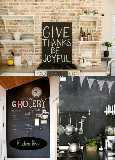 myidealhome:  kitchen: chalkboard inspiration (via happyinteriorblog)