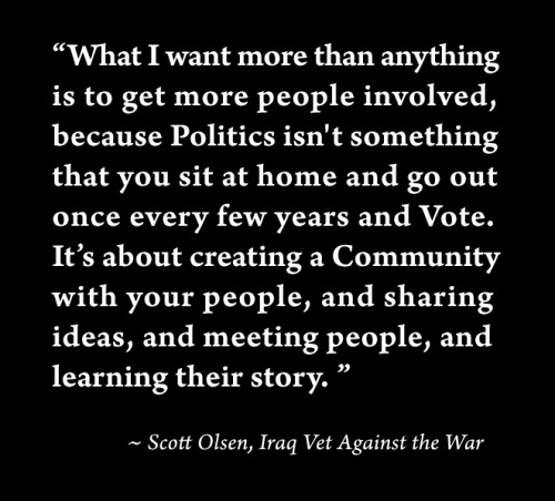 Words of wisdom from an Iraq War Vet.