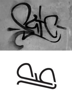 A logotype inspired by a street graffiti. Made in Typography class with guidance by Dekel Bovrov