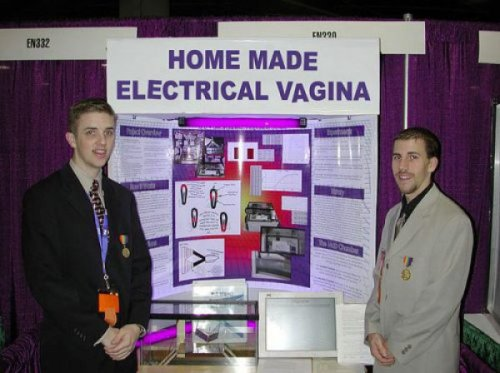 "Homemade Electrical Vagina Presentation  There was a tie for the ""most likely to never talk to a girl ever again"" superlative."