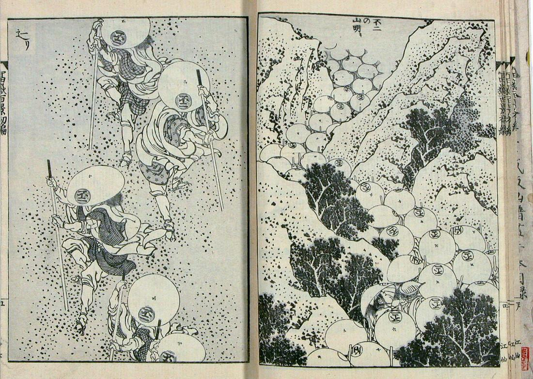 Katsushika Hokusai Fugaku hyakkei  'One hundred views of Mt. Fuji'-vol. I