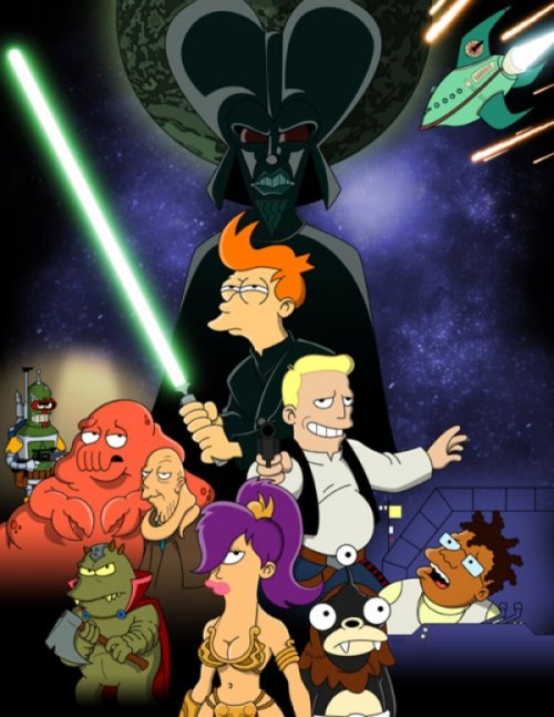 Star Wars Meets Futurama The Planet Express ship did not make the Kessel run in 12 parsecs.
