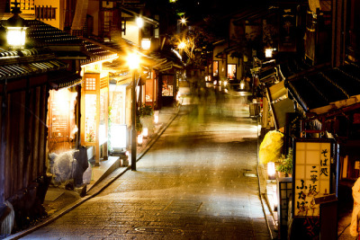 Night Walker in Kyoto Ninenzaka by Shibazo on Flickr.
