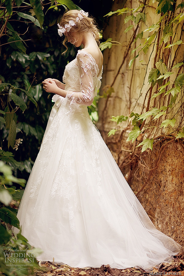 weddinginspirasi:  Marie Laporte Wedding Dress Corte ball gown from Marie Laporte 2012 bridal collection.