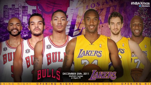 jtothauls12:  ITS GOIN DOWN CHRISTMAS DAAAAY!!!  i caant wait! OMGGG! Kobe-DRose showdown!!!