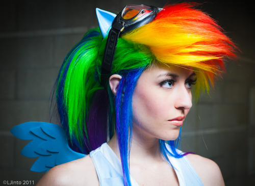 My Little Pony Week (Big Adventure):  Rainbow Dash from My Little Pony  Cosplayer: Scruffy Rebel [Twitter]Photographer: LJinto