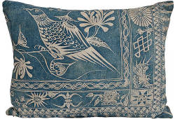 (via One Kings Lane - Erin Taylor, Botanik - Indigo Pillow w/ Bird)