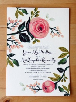 (via Illustrated Floral Wedding Invitations by Rifle Paper Co. | Oh So Beautiful Paper)