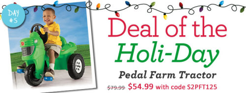 Today's Deal - Pedal Farm Tractor is just $54.99 with code S2PFT125 at checkout. 24 hours only!