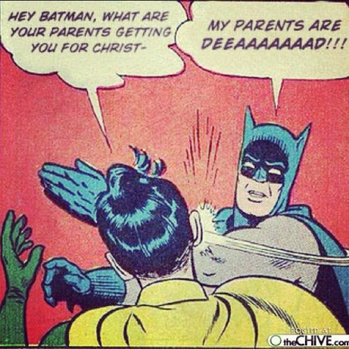 Geez, Batman is a Scrooge…  (Taken with Instagram at The Batcave)