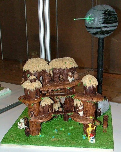 Gingerbread Ewok Village made by the Infinite Yums (via Neatorama)  You cannot deny the cuteness of chocolate ewoks!