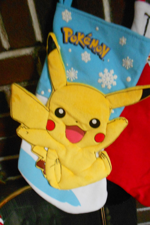 mylittlepokemonster:  lifeofapokemontrainer:  PIKACHU STOCKING. I WANTTTT.  too precious!:D  IT BEGINS!!!