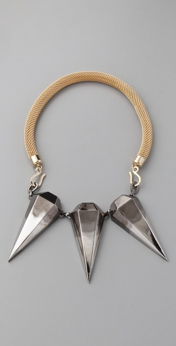 Triple Pendulum Spikes Necklace by Made Her Think