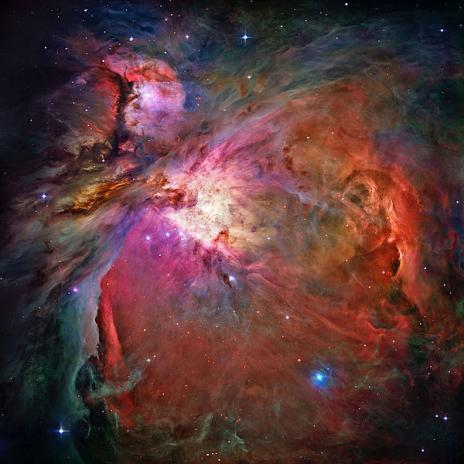 The Orion Nebula  In one of the most detailed astronomical images ever produced, NASA's Hubble Space Telescope captured an unprecedented look at the Orion Nebula. … This extensive study took 105 Hubble orbits to complete. All imaging instruments aboard the telescope were used simultaneously to study Orion.