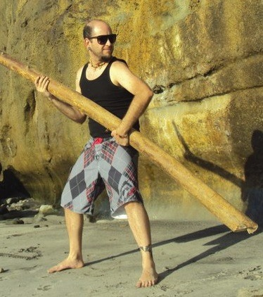 Me and My Stick at the beach. Its always nice to take your stick for a walk outside now and then