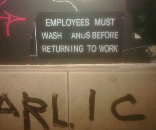 Employees Must Wash Anus Before Returning To Work  And until they install that bidet, feel free to use the sink.