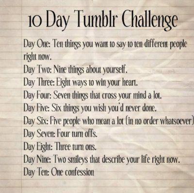 "ciaobellox3:  Day Five: Six things you wish you'd never done.  1. I wish I didn't slack off in high school. Especially during freshman year. I guess I didn't care about having good grades cus it was my first year in high school. I was just excited to reach high school level. 2. I wish I applied for scholarships during high school. Probably would've attended a better college. But no, I didn't care, and I just wanted to go Leeward Community College, since it's close by my house. 3. I wish I didn't meet *you. Overall, you ruined my life. But then again…I wouldn't be where I am today without you.  4. I wish I didn't hurt myself. The depression, the cutting, the heartaches…all because of some boy. Stupid, I know. But I just wished that I didn't had to go through that state to feel a hint of happiness, or comfort. 5. I wish I didn't hurt *you. I know that I am a horrible person for doing that…..twice. NO one deserves being treated the way I treated you. So I sincerely apologize. Someday, I hope that you'll at least be able to say a simple ""Hello"" once in while, instead of treating me like I don't exist. 6. I wish I didn't have the power to keep other people's secrets. It sucks knowing things that the ones close to you don't know about. I hate keeping things from people. Sometimes, a little honesty wouldn't hurt."