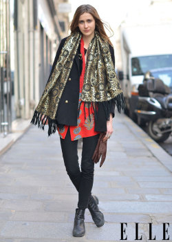 elle:  Street Chic: Paris Peep all the best street style from Paris! Photo: Courtney D'Alesio