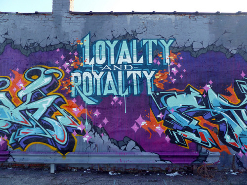 Loyalty and Royalty. Detroit 2011 on Flickr.MSK in #Detroit. #Graffiti #Graff