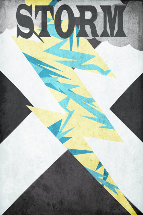 Minimalist X-Men Posters by Nicholas Hyde Available at Etsy