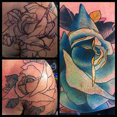brokenarttat:  12 of #30roses #bluerose  i want one. whinewhinewhinewhinewhine. i wonder if i own anything i could sell for $200.
