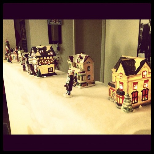 Putting up my Christmas village! (Taken with instagram)