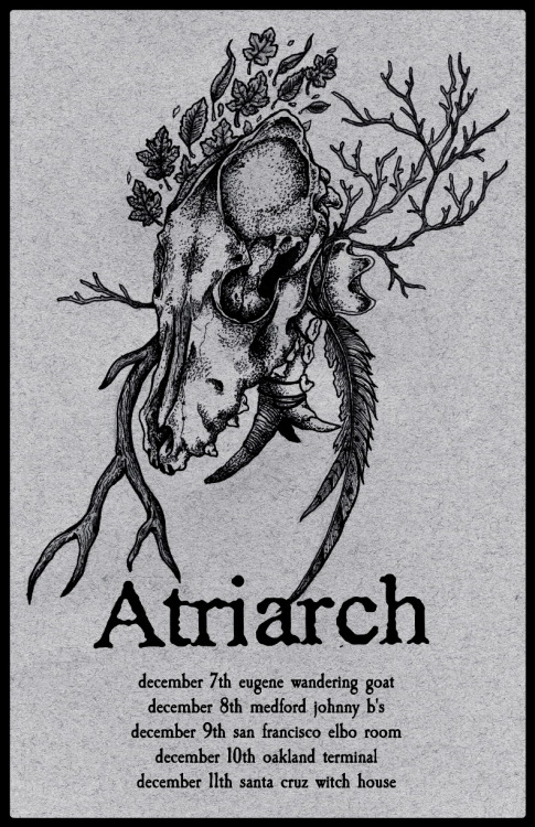 clovenhoov:  Atriarch West Coast Tour. Circulate.