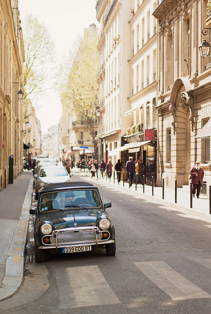 | ♕ |  Mini Cooper in Paris  | by © Matt Borkowski | via ysvoice